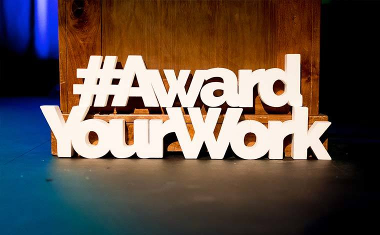 Award Your Work Blue Thumb